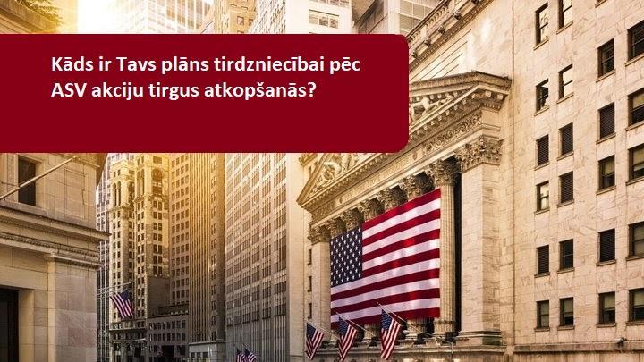 ASV akcijas atgūstas pēc kritiena un piedzīvo labāko dienu kopš Aprīļa