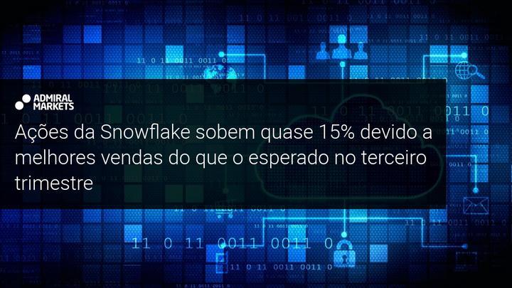 Ações da Snowflake sobem quase 15% devido a melhores vendas do que o esperado no terceiro trimestre - Admiral Markets