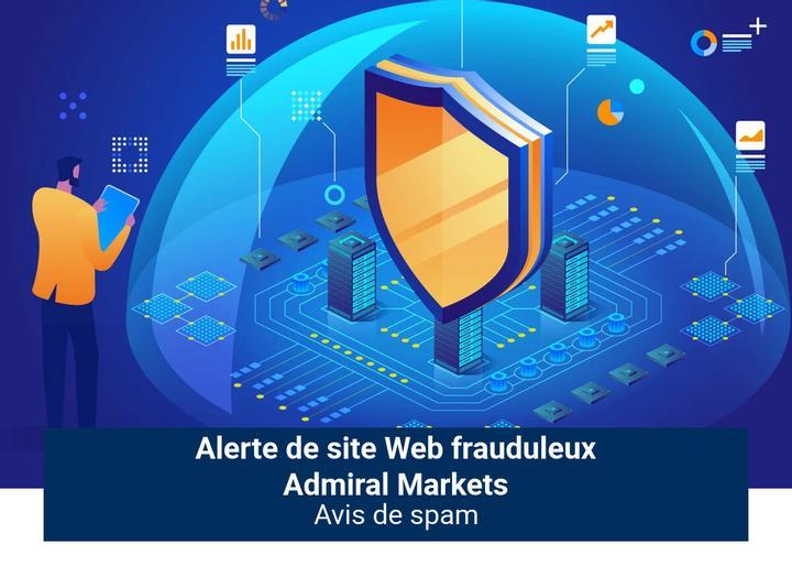 Alerte de site Web frauduleux Admiral Markets