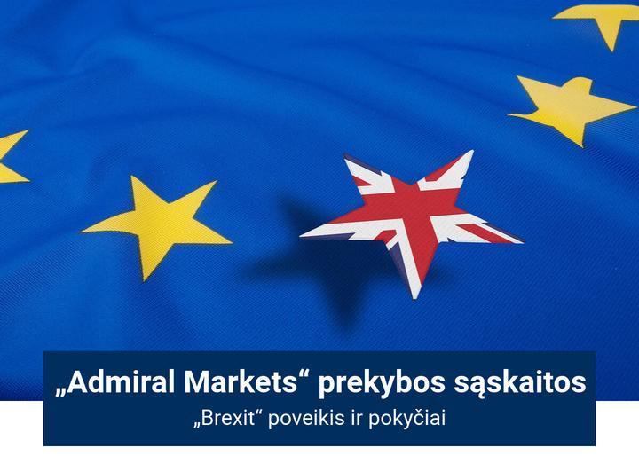 Brexit ir Admiral Markets Cyprus Ltd prekybos sąskaita