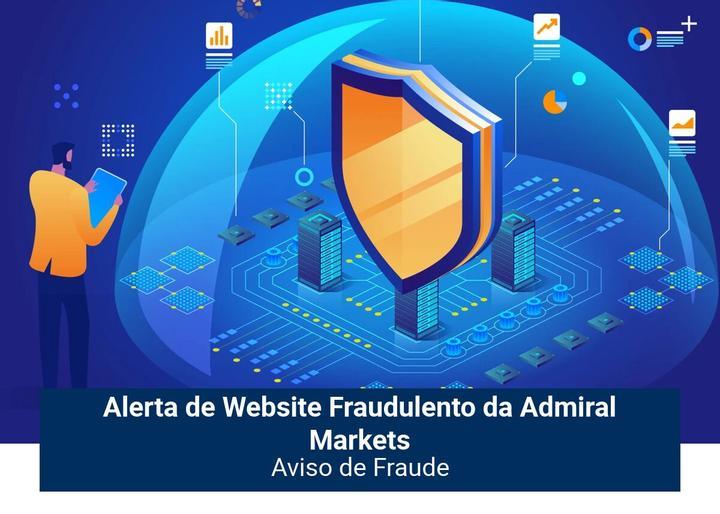 Alerta de site fraudulento da Admiral Markets