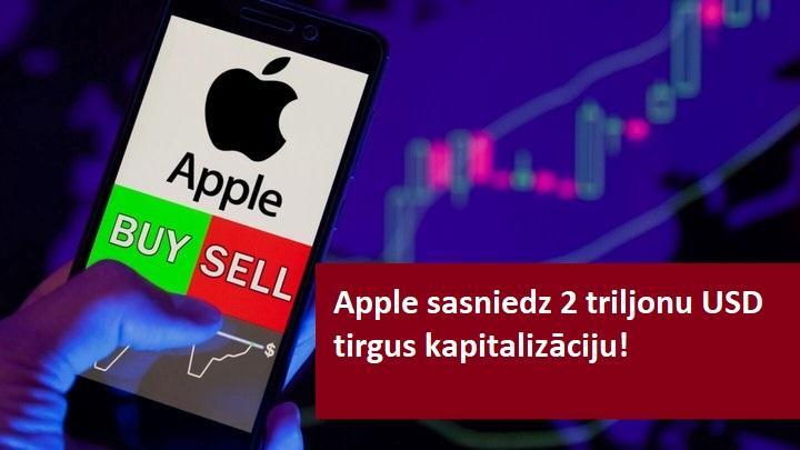 Apple sasniedz tirgus kapitalizāciju 2 triljonu USD apmērā!