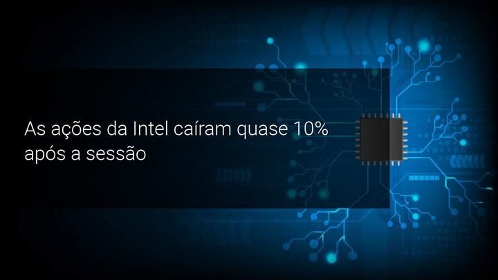 As ações da Intel caíram quase 10 por cento após a sessão - Admiral Markets