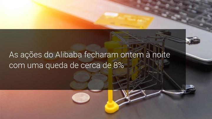 As ações do Alibaba fecharam ontem à noite com uma queda de cerca de 8% - Admiral markets