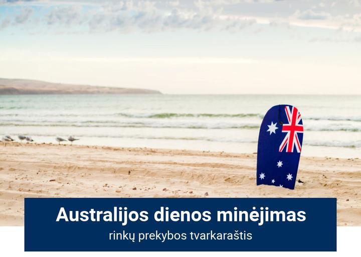 Rinkų tvarkaraštis per Australijos dienos išeiginę