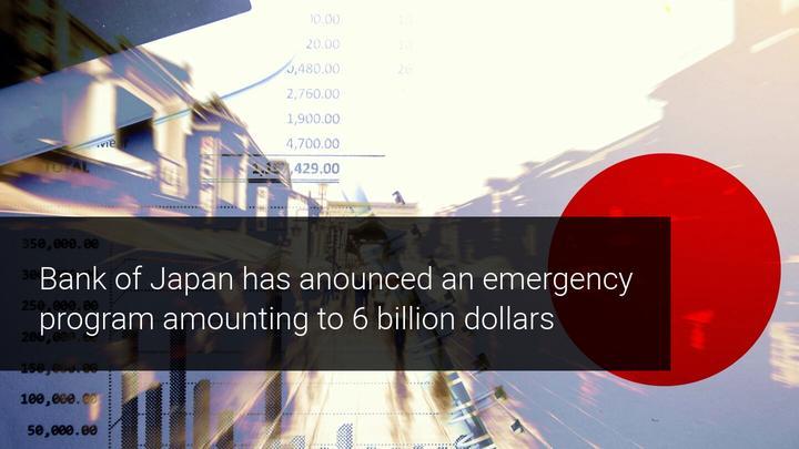 bank of Japan announces 6 billion dollar emergency plan coronavirus