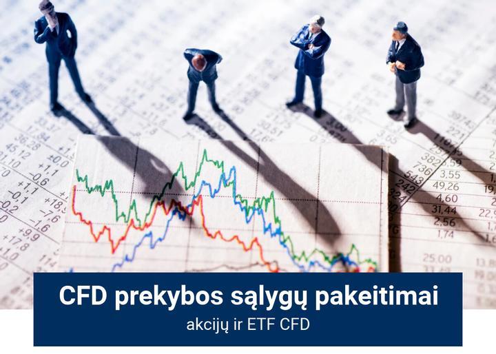 Akcijų CFD ir ETF CFD prekybos sąlygų pakeitimai