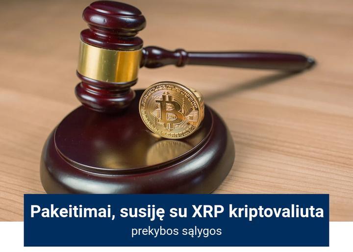 XRP prekybos sąlygų pakeitimai