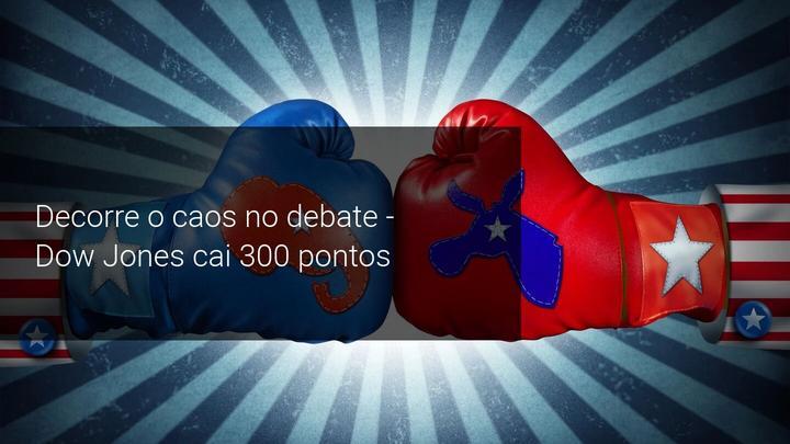 Decorre o caos no debate - Dow Jones cai 300 pontos - Admiral Markets