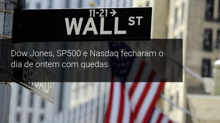 Dow Jones, SP500 e Nasdaq fecharam o dia de ontem com quedas - Admiral Markets