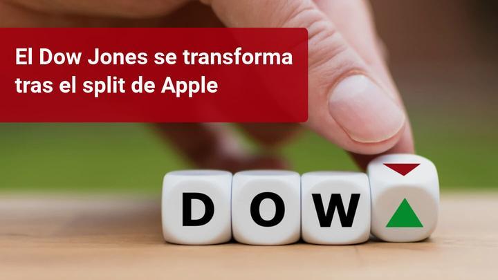 El índice Dow Jones cambia su composición tras el split de Apple