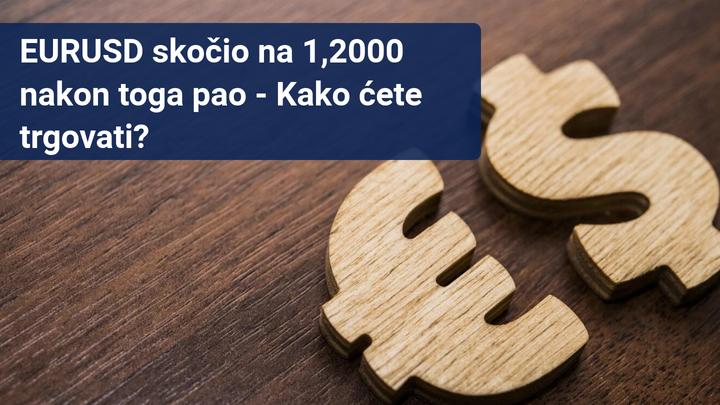 EURUSD skocio na 1,2000