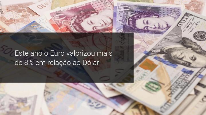 Este ano o Euro valorizou mais de 8% em relação ao Dólar - Admiral Markets