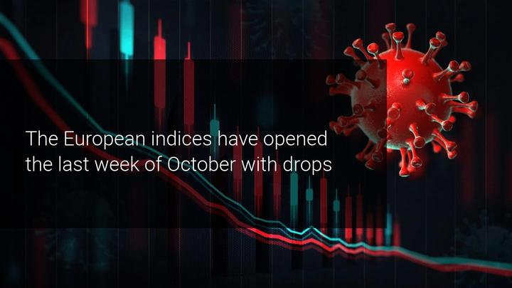European stock markets fall due to new restrictions against Covid