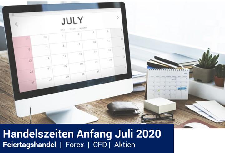 Feiertagshandel - Handelszeiten Admiral Markets Anfang Juli 2020