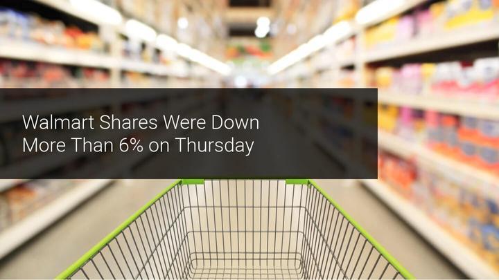 Walmart Shares Down