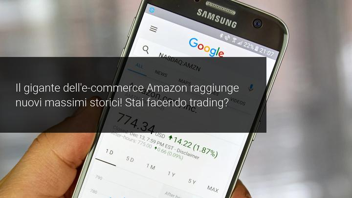 Amazon e nuovi massimi storici