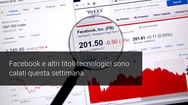 calo facebook azioni
