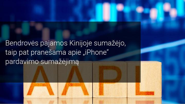 """Apple akcijos krinta dėl mažų """"iPhone"""" pardavimų. Ar verta dabar pirkti akcijas?"""