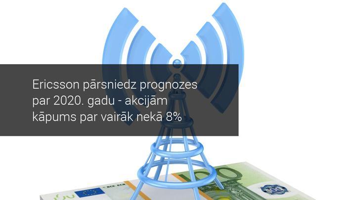 Ericsson pārsniedz prognozes par 2020. gadu - akcijām kāpums par vairāk nekā 8%