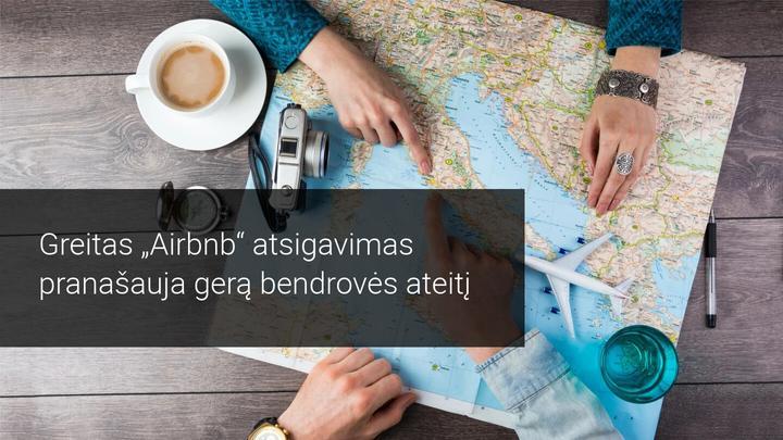 Airbnb pirmos dienos skrydis