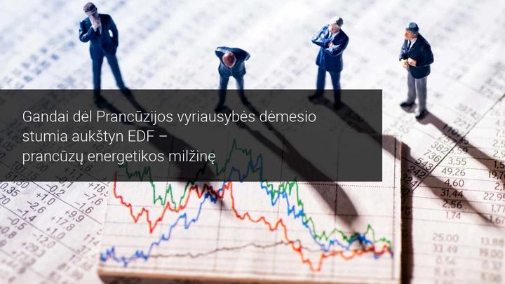 Gandai stumia į viršų EDF akcijas rinkoje