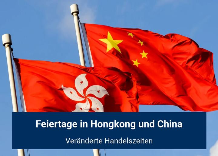 Feiertage in Hongkong und China Oktober 2020
