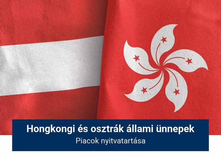 Hongkongi és osztrák állami ünnepek kereskedési órái