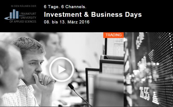 Investment & Business Days 2016, IB Days: Daytrader und Profitrader-Webinare