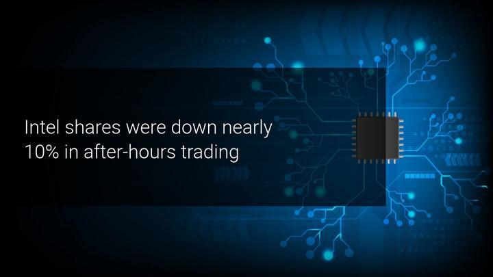 Intel shares tumble on downbeat earnings
