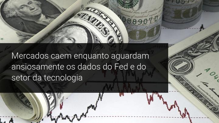 Mercados caem enquanto aguardam ansiosamente os dados do Fed e do setor da tecnologia - Admiral Markets
