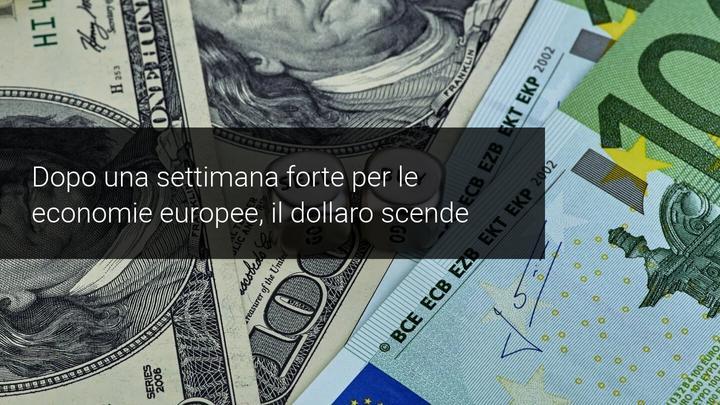 Il Dollaro scende al di sotto dei minimo di un mese