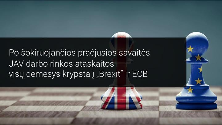 Savaitės rinkos apžvalga: dėmesio centre – ECB pinigų politikos ataskaita ir Brexit