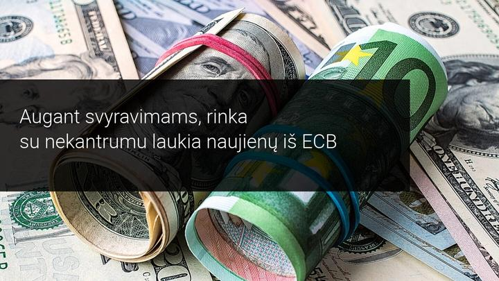 Savaitės rinkos apžvalga: šią savaitę visų dėmesys nukreiptas į ECB