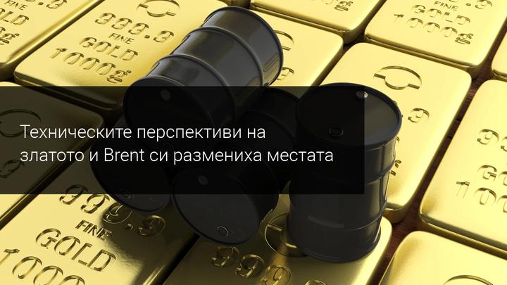 Перспективите пред цените на златото и Brent са много различни от преди година