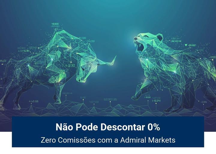 Não pode descontar zero comissões com a Admiral Markets