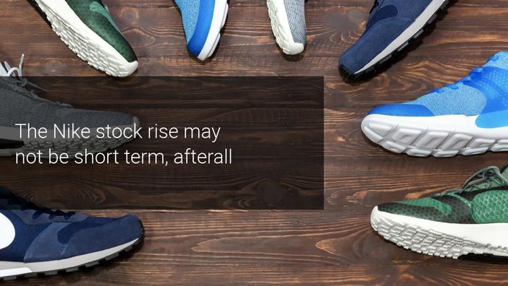 Nike shares soar on 82% jump in online sales