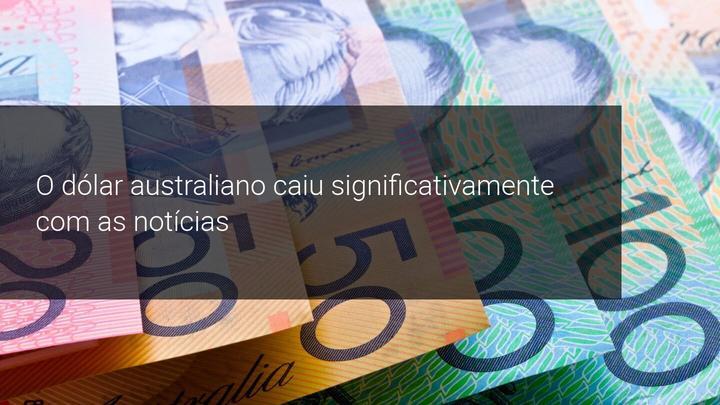 O dólar australiano caiu significativamente com as notícias - Admiral Markets