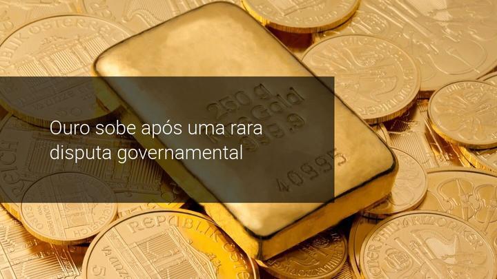Ouro sobe apos uma rara disputa governamental - Admiral Markets