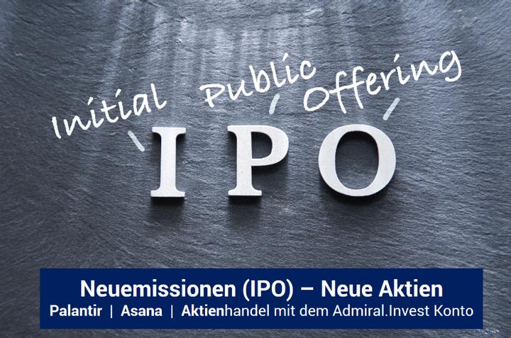 Palantir und Asana - IPO und Aktienhandel  bei Admiral Markets