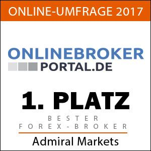 Bester Forex-Broker 2017 laut Onlinebroker-Portal in Deutschland: Admiral Markets