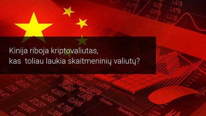 Po Kinijos liaudies banko draudimo kriptovaliutų rinka nugrimzdo žemyn