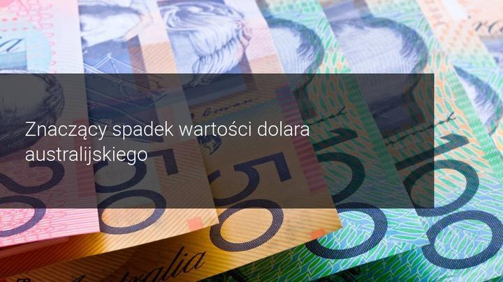 RBA -spadek dolara australijskiego