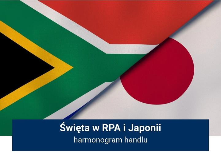 RPA i Japonia - święta, harmonogram handlu