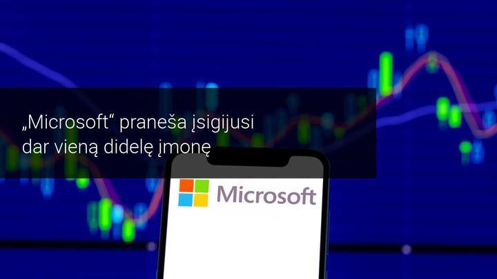 Su Nuance tęsiasi Microsoft įsigijimų šurmulys