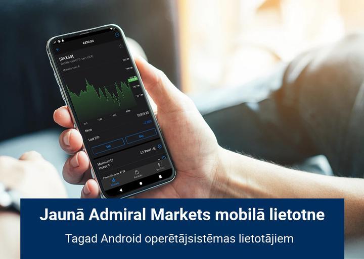 Admiral Markets mobilā lietotne Android operētājsistēmām