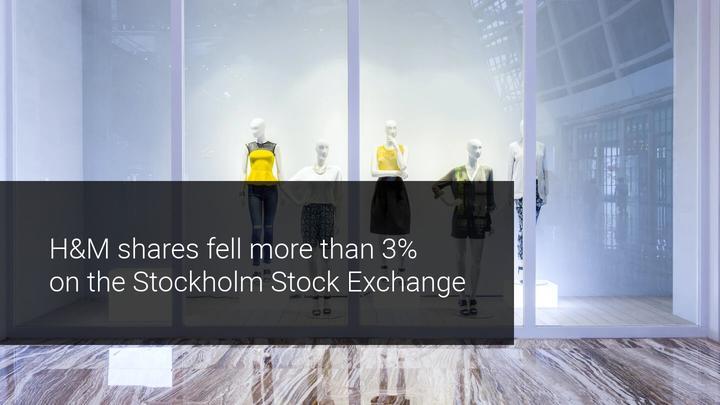 HM shares fall Stockholm exchange