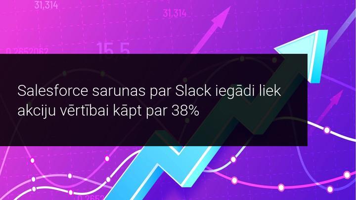 Salesforce sarunas par Slack iegādi liek akciju vērtībai kāpt par 38%