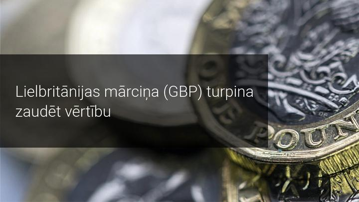 Pēc Brexit sarunām GBP piedzīvo vērtības kritumu, kas tālāk?