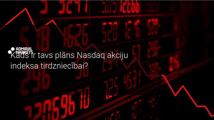 Pēc ASV Federālo rezervju paziņojuma, Nasdaq indekss piedzīvo vērtības kritumu